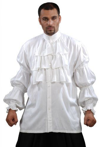Armor Venue  Seinfeld Puffy Shirt  Renaissance Costume  White Large >>> Click image to review more details.
