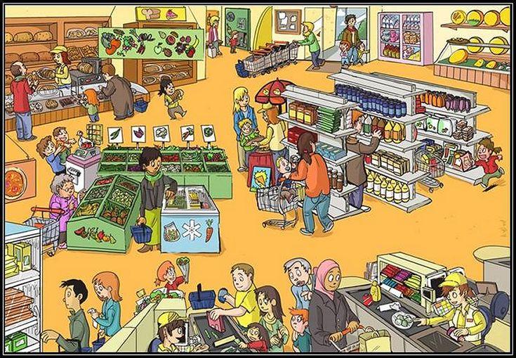 Video-praatplaat, Supermarkt