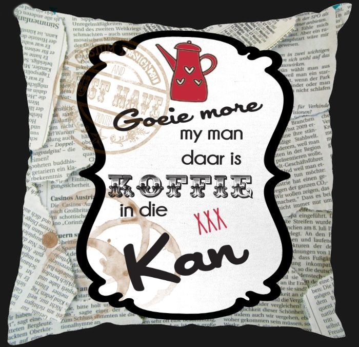 Must Have Custom Designed Decor, Scatter Cushion, designed to your taste colour and theme, sa design;afrikaanse segoed reeks; afrikaans