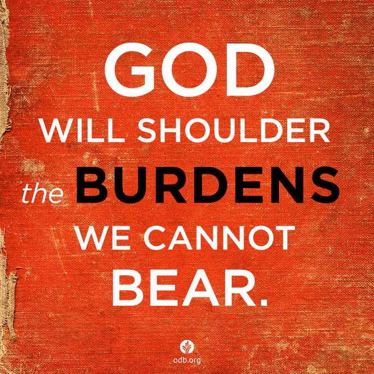 """""""Cast your burdens upon Jesus for He cares for you ."""""""