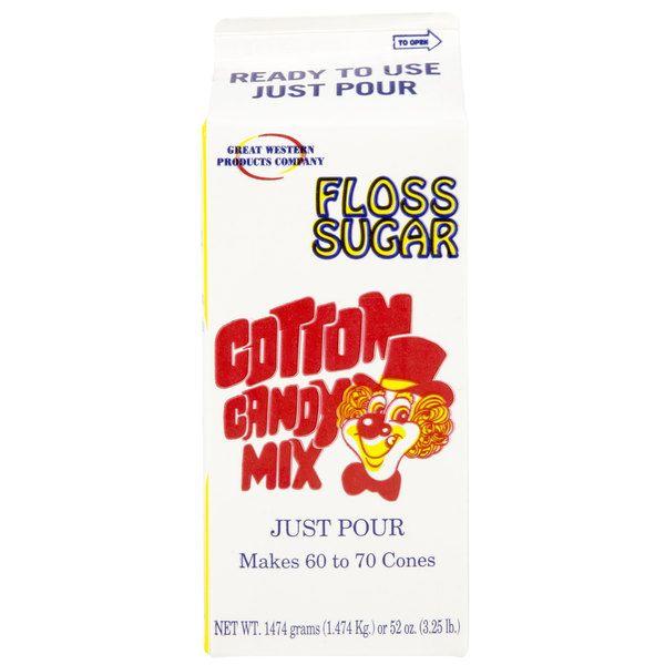 Great Western 1/2 Gallon Carton Pink Bubble Gum Cotton Candy Floss Sugar