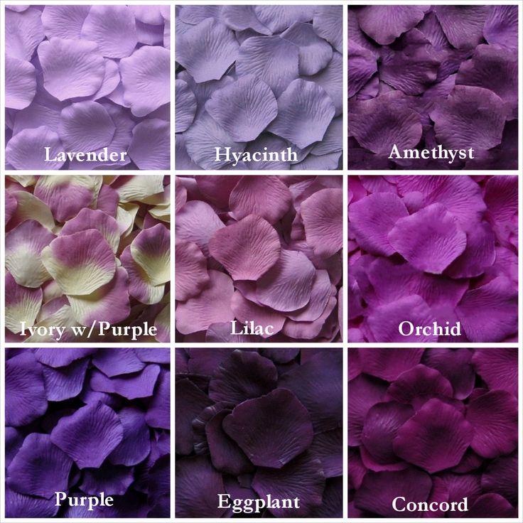 Pétalos de rosa púrpura en 13 tonos pétalos por LittleThingsFavors