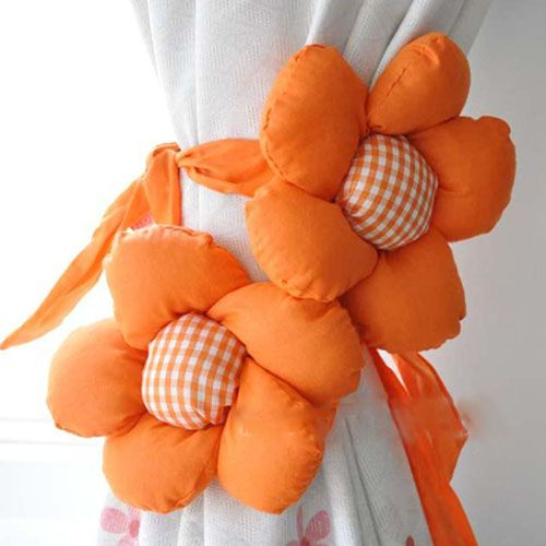 A Pair Pretty Sunflower Tieback Curtain Buckle-Orange - http://ucables.com/product/a-pair-pretty-sunflower-tieback-curtain-buckle-orange/