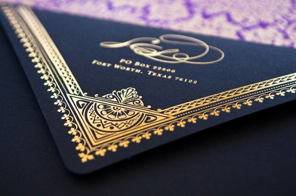 Oh So Beautiful Paper: Dramatic Middle Eastern Scriptorium Soirée Invitations