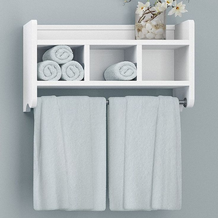 Bolton Bathroom Storage Cubby Towel Bar Wall Shelf White In 2020 Diy Bathroom Storage Diy Bathroom Cubby Storage