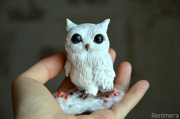 Сова из полимерной глины сова, полимерная глина, творчество, пластика, ручная работа