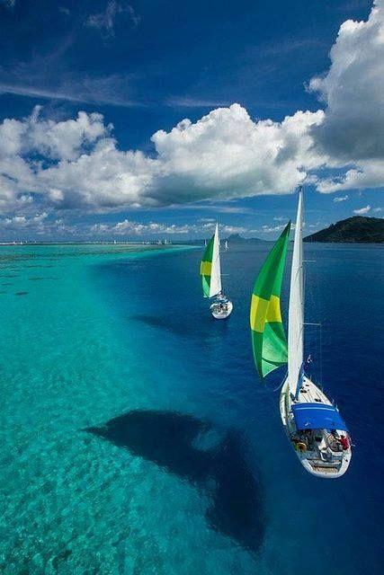 Crystal-clear Sea, French Polynesia