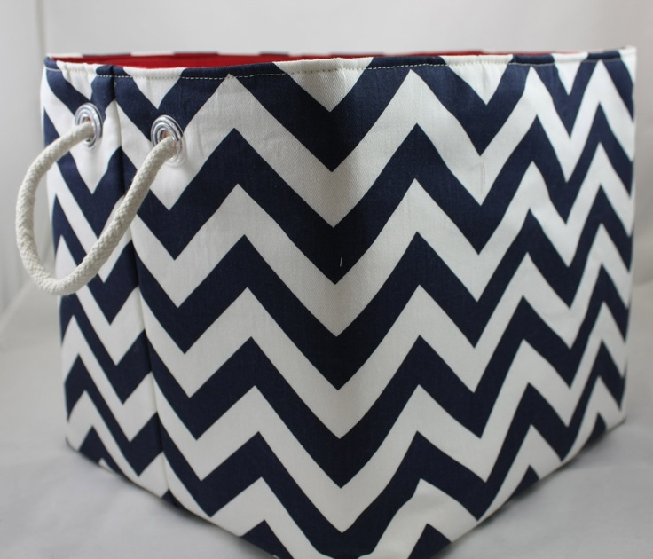 NEW 12 X 12 X 10 Fabric Organizer Storage Container Basket Bin   ZigZag