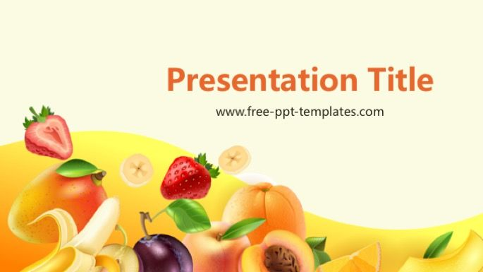 Fruit PowerPoint Template Food and Drink PowerPoint Templates in