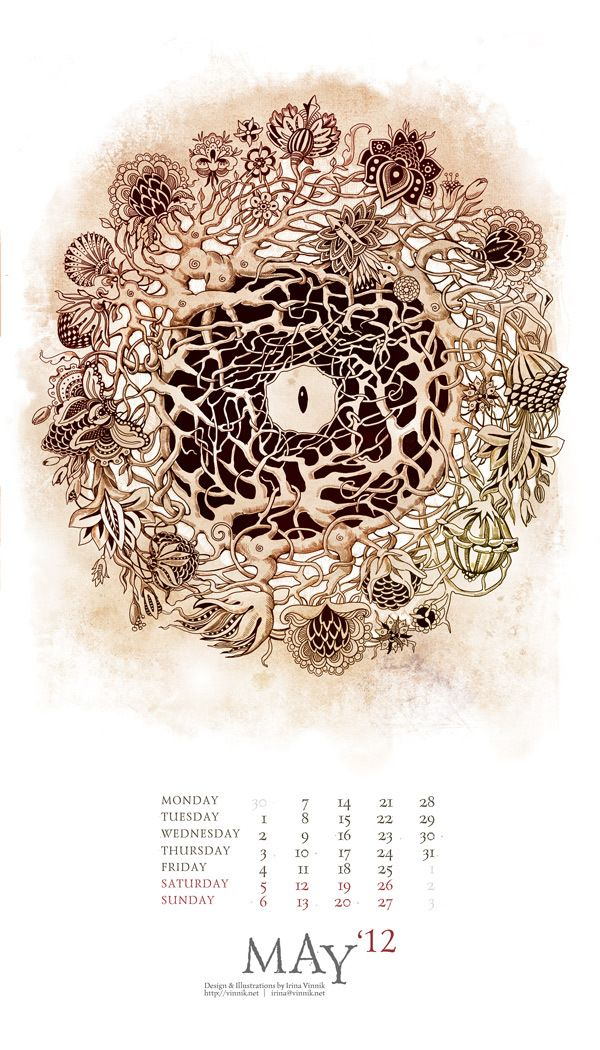 The Eyes of Imagination (Calendar 2012) by Irina Vinnik, via Behance