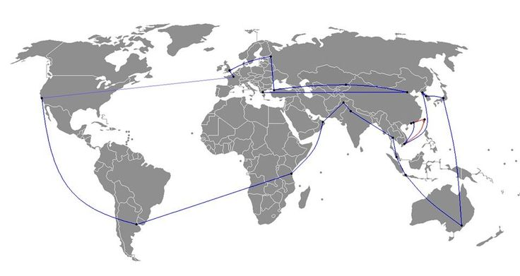 Route of the 2008 Olympic Torch Relay