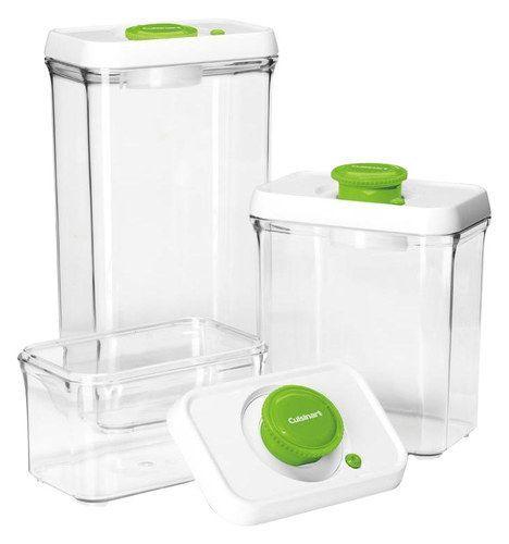 Cuisinart - FreshEdge Vacuum-Seal 6-Piece Food Storage System - Green