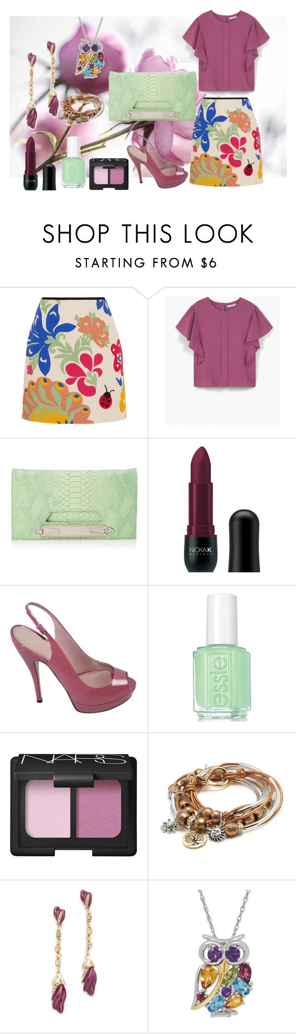 """hola!"" by kaderkulcu ❤ liked on Polyvore featuring Victoria, Victoria Beckham, MANGO, Danielle Nicole, Nicka K, Gucci, Essie, NARS Cosmetics, Lizzy James and Oscar de la Renta"