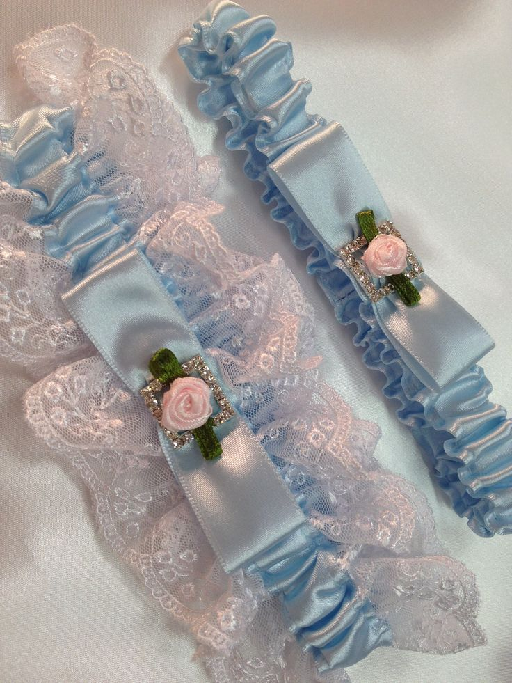 """The """" Maria """" Blue and White Garter Set. Ships worldwide. Wedding Garters of distinction. https://www.etsy.com/listing/200554237/wedding-garter-the-maria-blue-and-white?ref=shop_home_active_3"""