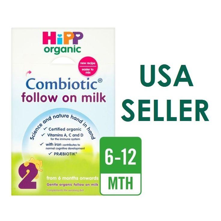 HiPP Follow On Milk Baby Formula Organic Combiotic Stage 2 USA Seller 800g UK version.