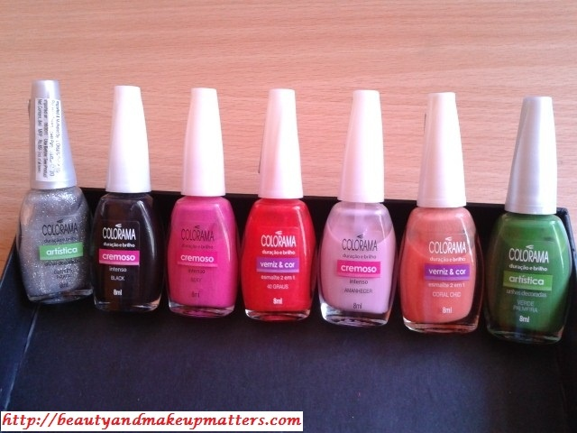 Swatch Fest – 7 Maybelline Coloroma Nail Paints