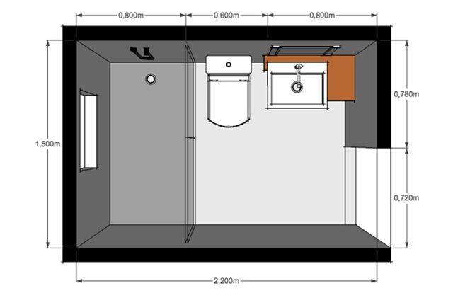 Image result for baños pequeños planos medidas