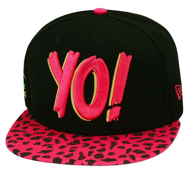 New Era Yo! Snapback Black/Pink Safari Print MTV Raps For Penny Foamposite Pink in Clothing, Shoes & Accessories, Men's Accessories, Hats | eBay