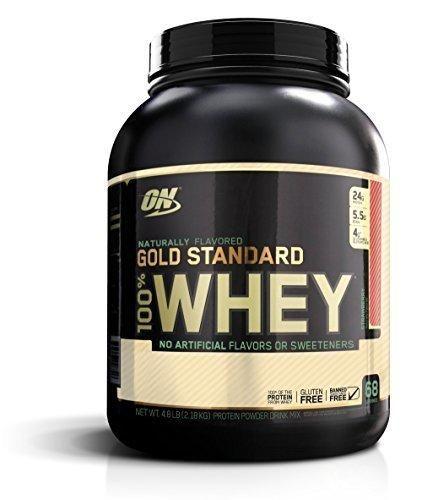 Optimum Nutrition Gold Standard 100% Whey Protein Powder Naturally Flavored Strawberry 4.8 Pound