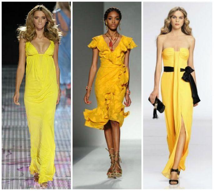 Accessori per vestito giallo e nero