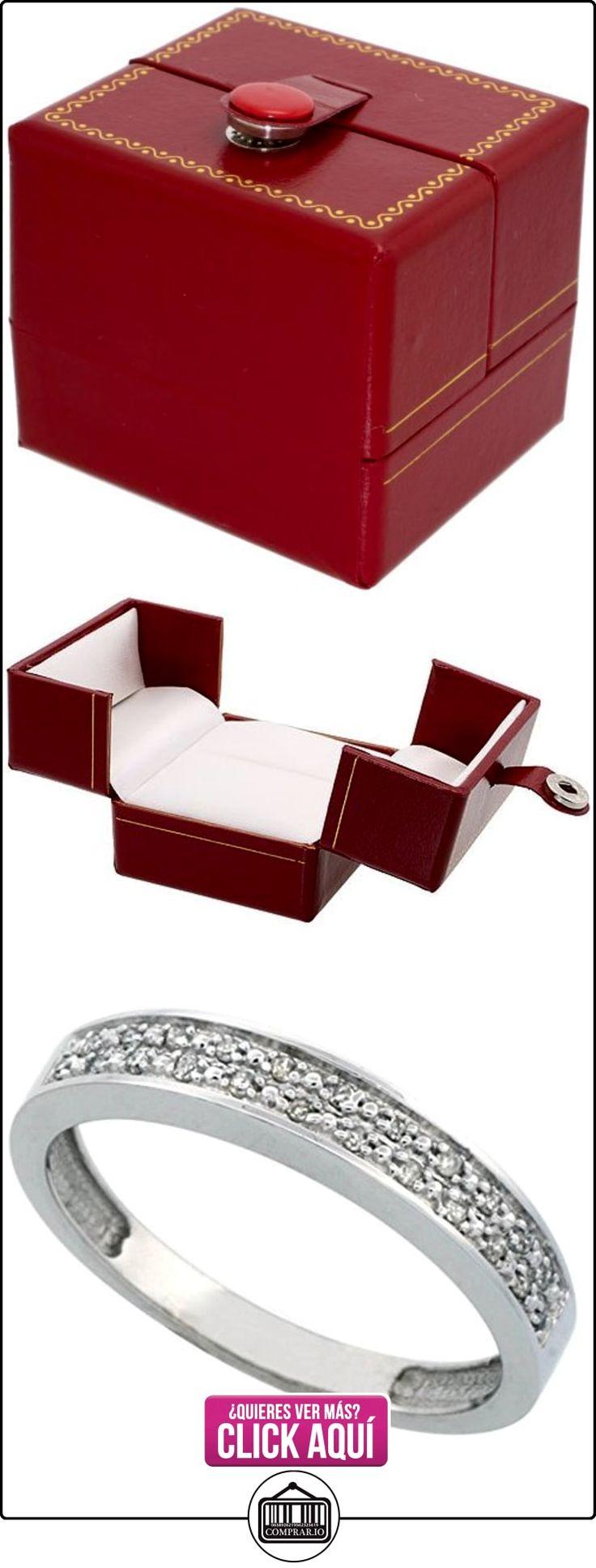 Revoni - Juego de alianzas de oro blanco con diamante  ✿ Joyas para hombres especiales - lujo ✿ ▬► Ver oferta: http://comprar.io/goto/B005M2TD5O