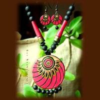 Summer Collection - Summer Romance (Pink Round) https://www.facebook.com/terracottajewelryindia