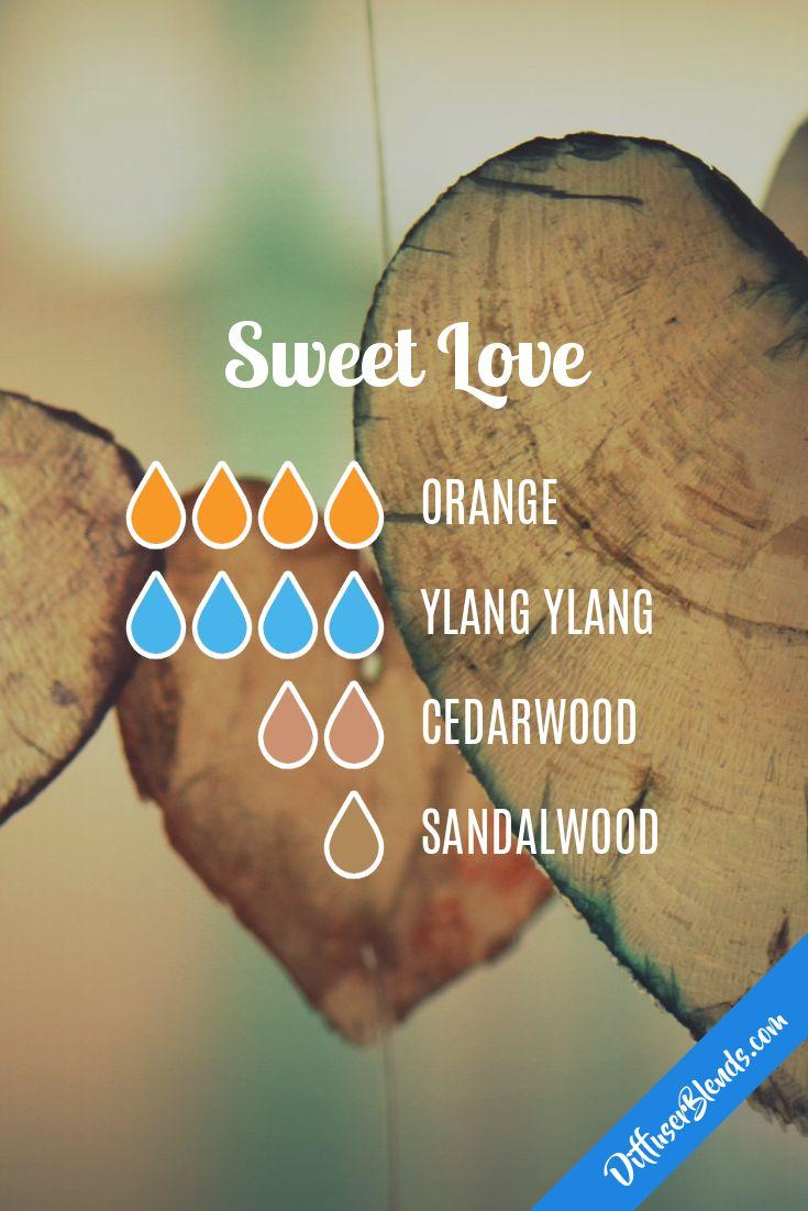 sweet love blend, orange, ylang ylang, geranium, sandalwood