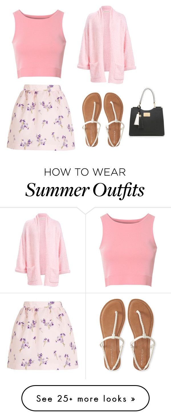 """""""Cute Summer Outfit"""" by lsantana13 on Polyvore featuring Glamorous, RED Valentino and Aéropostale"""