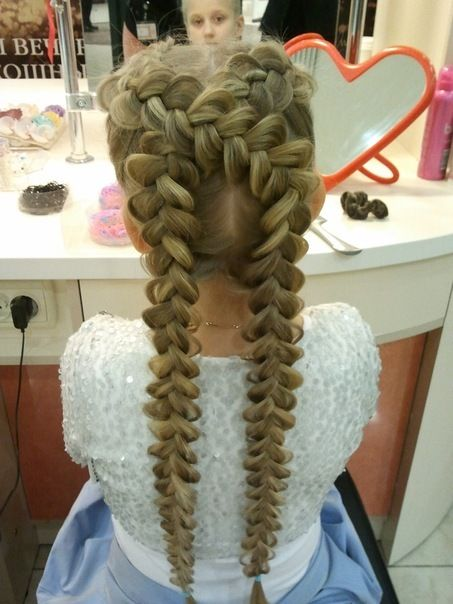 Fantasy cross braided hairstyle