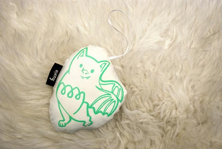 """Hand printed toy """"Veera Vauhti"""". 100% organic cotton. http://www.kuviokioski.com"""