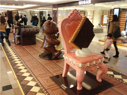 This strawberry chair is already taken....by a chocolate cookie