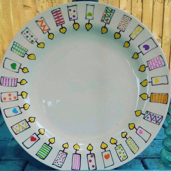 Happy Birthday plate