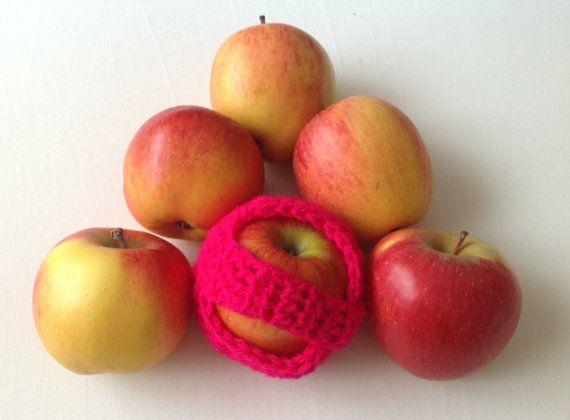 Handmade crochet apple cozy apple cosy crochet by CrochetedByParis, £5.99
