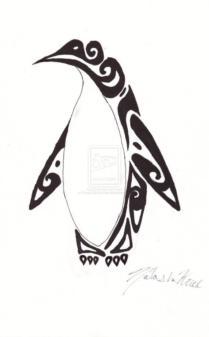 Tribal Penguin by Forest-Quick-Paw