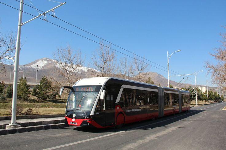 2015-03-09, Malatya, Turkey. New trolleybus service. https://facebook.com/photo.php?fbid=653188431453621
