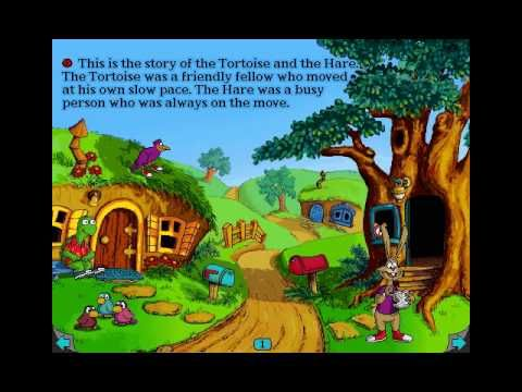 Living Books - The Tortoise and the Hare - YouTube (the story begins at 1:19)