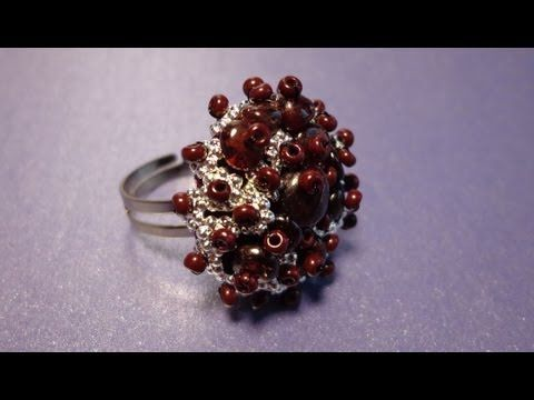 Video Tutorial: The ring on the basis of knitted - YouTube (Russian)