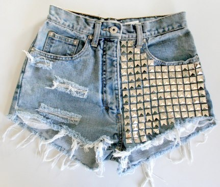 girls fashion shorts Studded Shorts Fashion Style