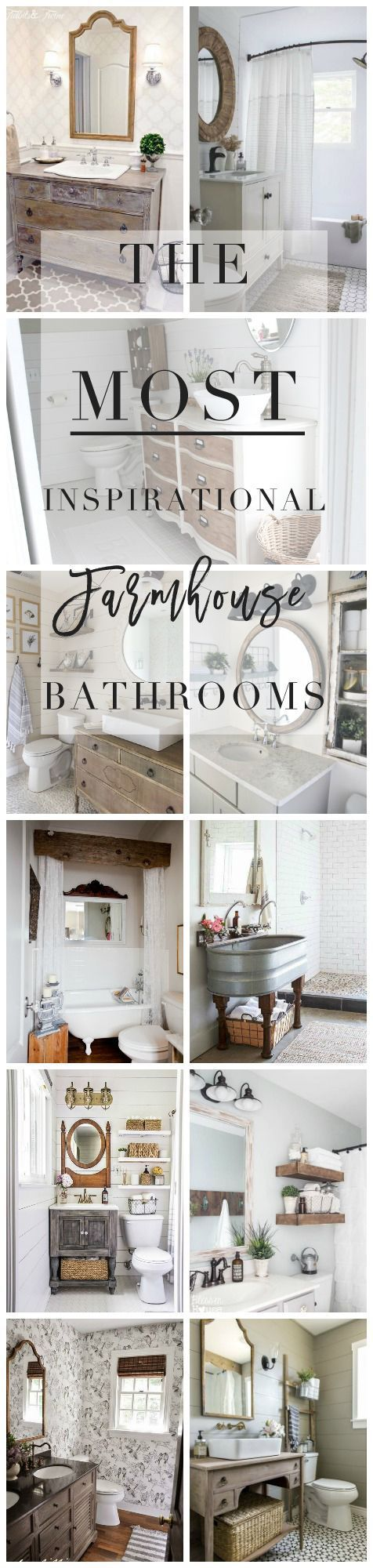 farmhouse / bathrooms / inspiration / decor / industrial / rustic / bathroom decor / bathroom styling
