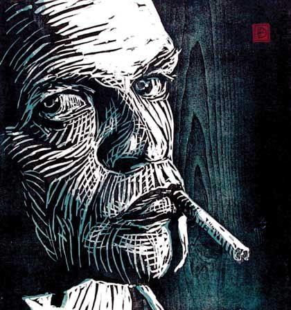 woodcut portraiture - Google Search
