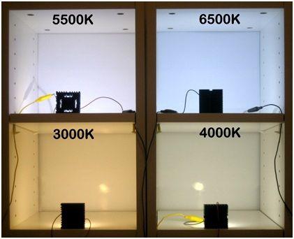 barvy LED, 5500K je slunecny den