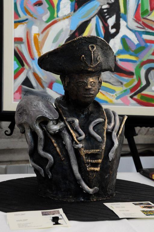 "Saatchi Art Artist: paolo figar; Bronze 2011 Sculpture """"seawolf"" Steampunk Captain Nemo"""