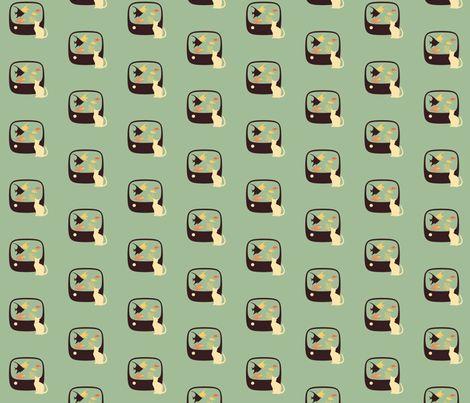 Tiny Tabby TV fabric by joanne_headington on Spoonflower - custom fabric