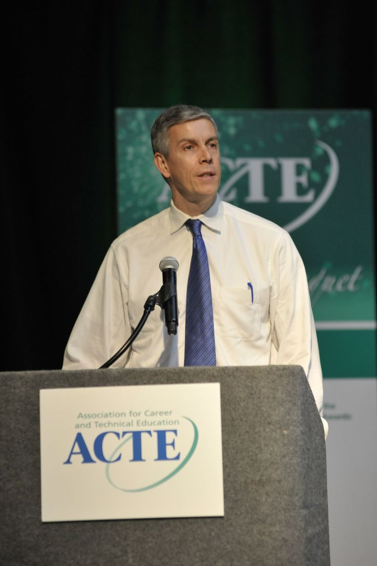 Sec. Duncan addresses attendees of the 2013 ACTE Awards Banquet.