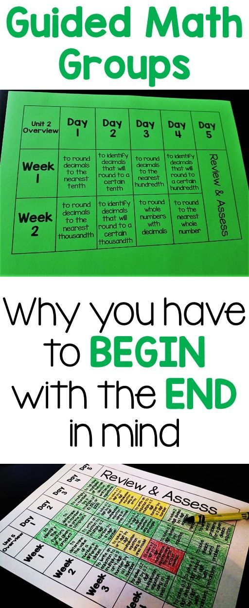 Guided Math Organization (Beginning with the end in mind)