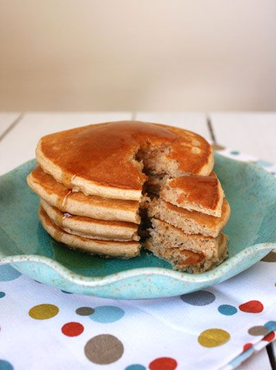The perfect whole wheat pancake recipe. Soft, fluffy, and extremely tasty!