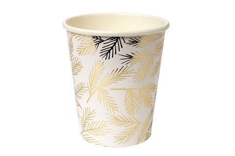 Meri Meri Gold Pine Cups - Pop Roc Parties