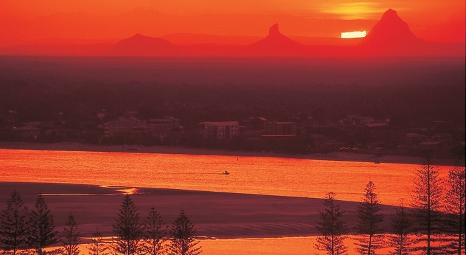 Glass House Mtns from Caloundra