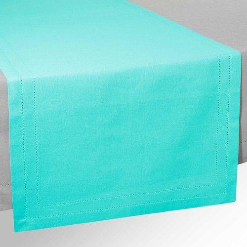 Runner da tavolo in cotone turchese L 150 cm