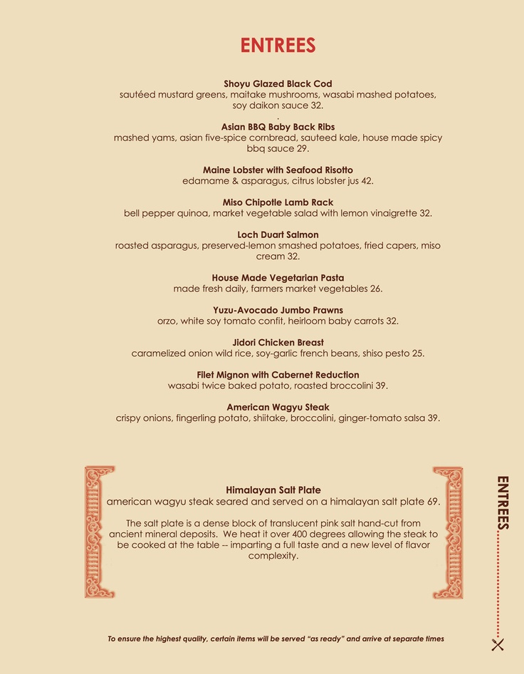Best Menu Collection Images On   Diners Restaurant